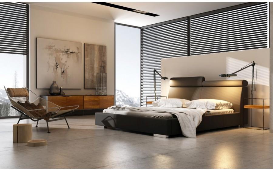 Modern łóżko tapicerowane