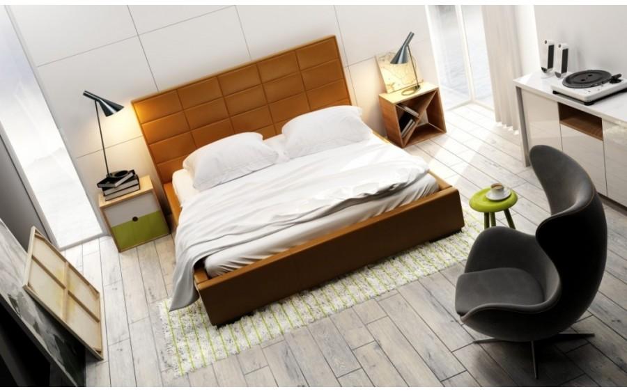 Quaddro Midi łóżko tapicerowane