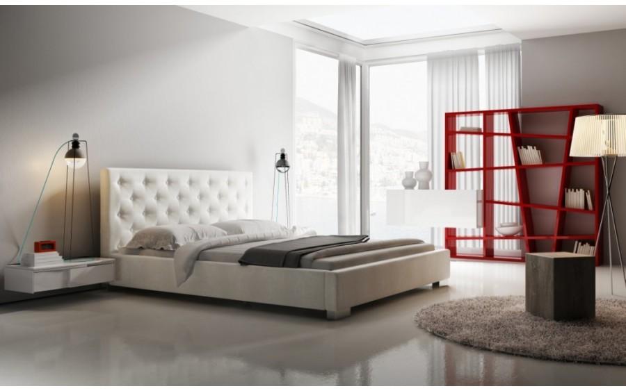 Loft łóżko tapicerowane