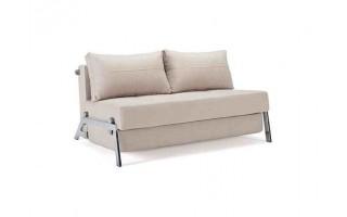 Sofa Cubed z nogami chromowanymi (140 cm)