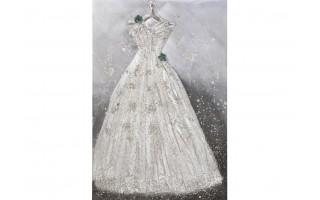 Obraz 90x120cm Biała suknia