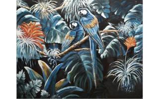 Obraz 120x150cm Dwie Papugi