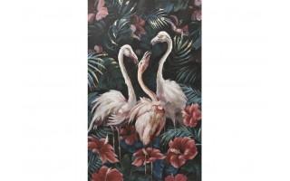 Obraz 100x150cm Trzy Flamingi