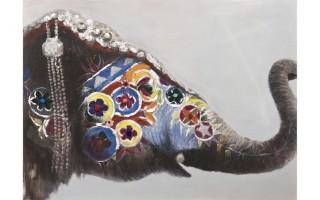 Obraz 90x120cm Słoń Orient
