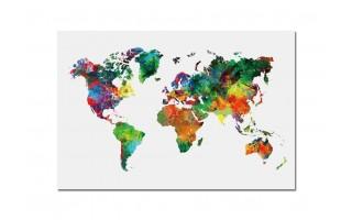 Obraz szklany 120x80 Mapa (260323)