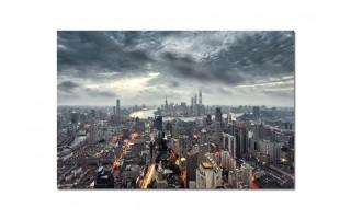 Obraz szklany 120x80 Miasto z lotu ptaka