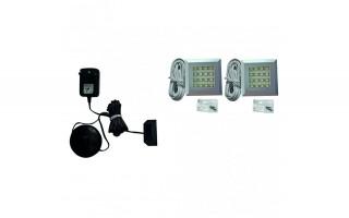 Zestaw oświetlenia LED 2-punktowy IZLED09-02 Colors