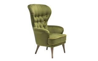 Fotel BFH399-3 zielony/żółty