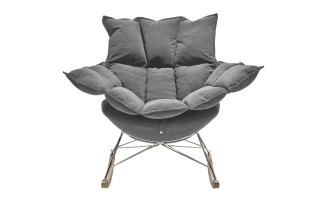 Fotel bujak HE325-2 jasny szary