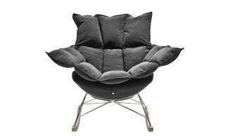 Fotel bujak HE325-2 ciemny szary