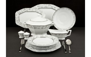 Serwis Obiadowy Silver Rosa 12/43