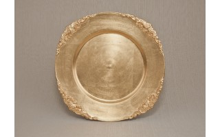 Talerz plastikowy ozdobny 35,5 cm