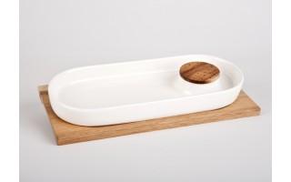 Półmisek z deską drewnianą Pampeluna
