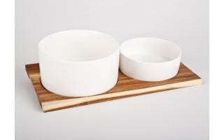 Salaterki z deską drewnianą Pampeluna