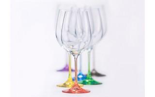 Kpl. 6 kolorowych kieliszków do wina Rainbow