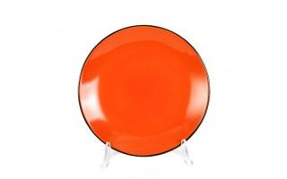 Talerz deserowy 21cm Black Out - pomarańczowy