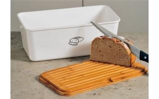 Pojemnik na chleb Kesper - biały