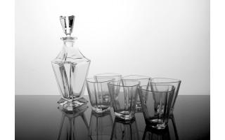 Karafka kryształowa + 6 szklanek