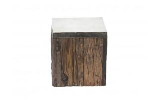 Kolumna drewniana 42cm z talerzem
