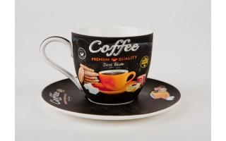 Filiżanka ze spodkiem Coffee - orange