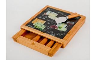 Deska do serów z 4 nożami