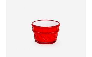 Pucharek do lodów 266ml Livio (czerwony)