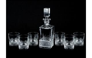 Karafka kryształowa 750ml + 6 szklanek
