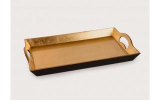 Taca plastikowa 29x44cm - złota