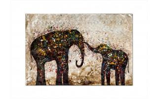 Obraz Słonie 100x150cm