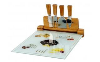 Deska do serów z 4 nożami Kitchen Basics
