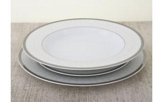 Komplet talerzy 6/18 Grenada Silver