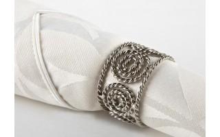 Obrączka na serwetę ażurowa