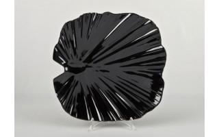 Taca liść palmowy 35 cm - czarna