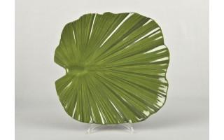 Taca liść palmowy 35 cm - zielona