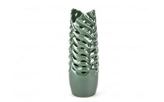 Wazon ceramiczny 51cm z motywem liści