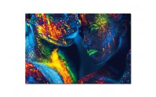 Obraz szklany 120x80 Kolorowy duet