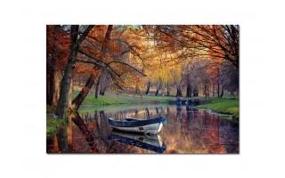 Obraz szklany 120x80 Jesień