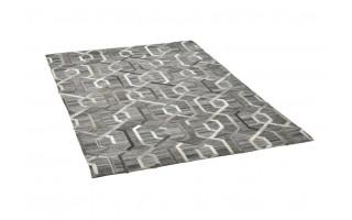 Dywan skóra-wełna 200x300 Denver Grey