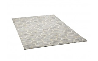 Dywan skóra-wełna 120x180 Denver Grey/White