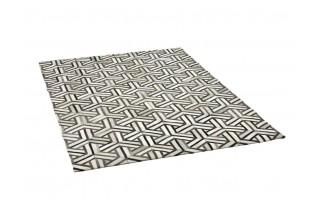 Dywan skóra 180x230 LM-272 White/Charcoal