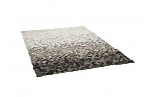 Dywan skórzany White/Grey ASH 160x230