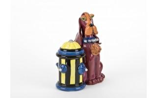 Pojemnik ceramiczny Pies czerwony przy hydrancie
