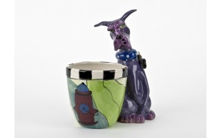 Ceramiczny pojemnik Pies przy hydrancie