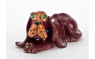Figurka ceramiczna Pies Bordowy