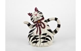 Imbryk ceramiczny Kot w paski