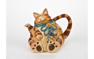 Imbryk ceramiczny Kot pomarańczowy