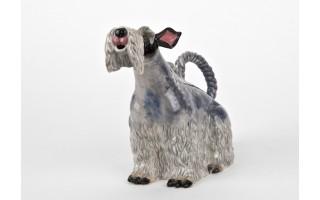 Ceramiczny imbryk Pies szary