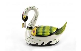 Ceramiczny pojemnik Łabędź