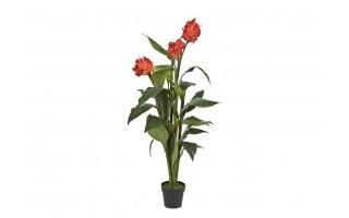 Roślina doniczkowa Kana czerwona 150cm (sztuczna)