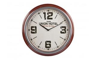 Zegar ścienny 47cm brąz